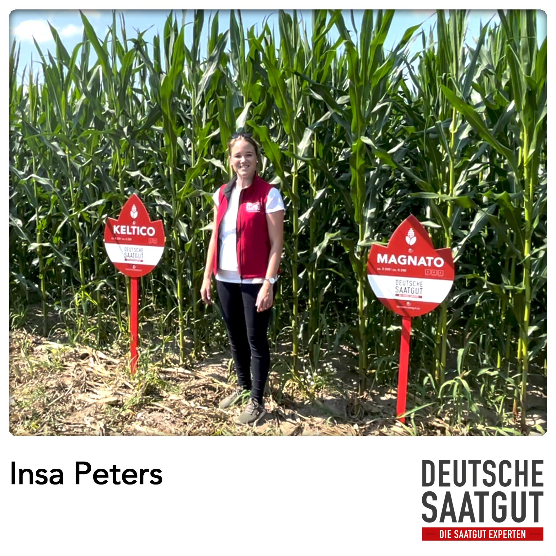 Insa Peters bei der Mais-Sortendemo in Dummerstorf.