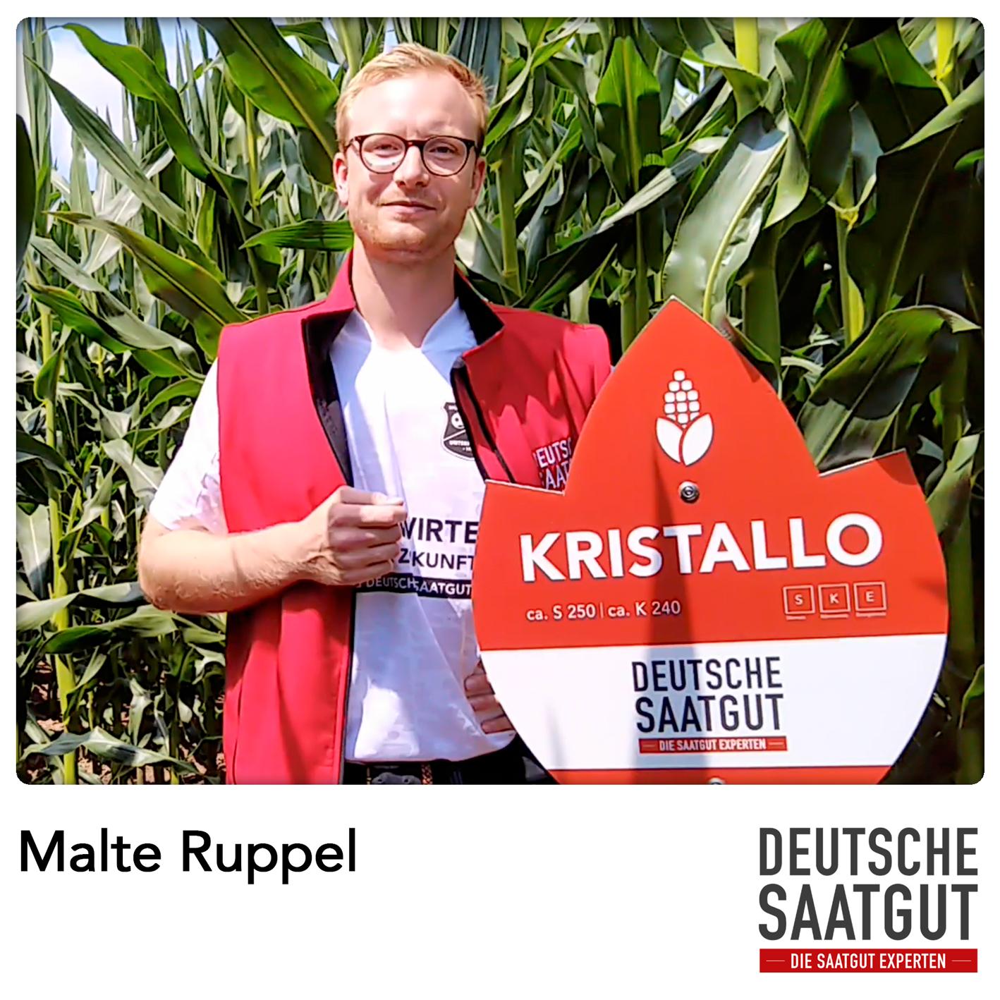 Malte Ruppel beim Mais-Exaktversuch in Markt Erlbach, im Landkreis Neustadt an der Aisch-Bad Windsheim