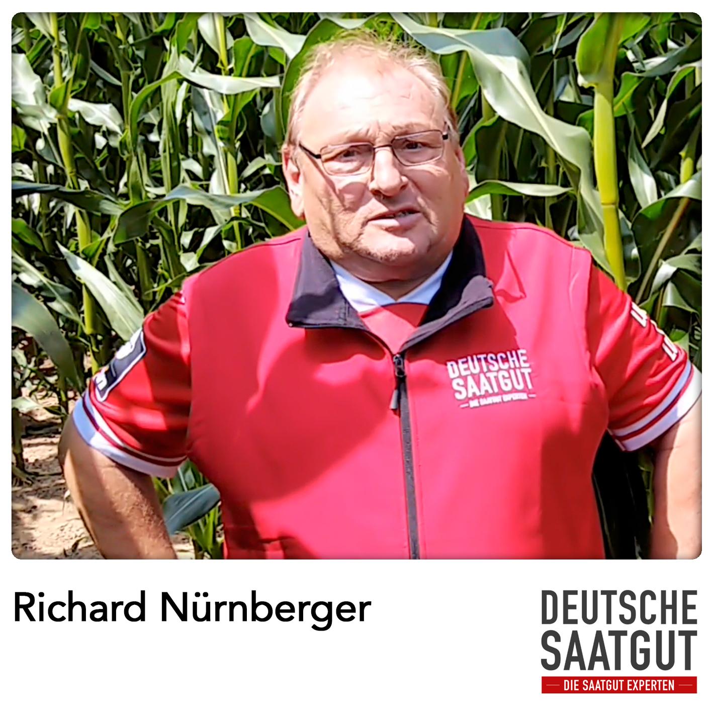 Richard Nürnberger beim Mais-Exaktversuch in Markt Erlbach, im Landkreis Neustadt an der Aisch-Bad Windsheim