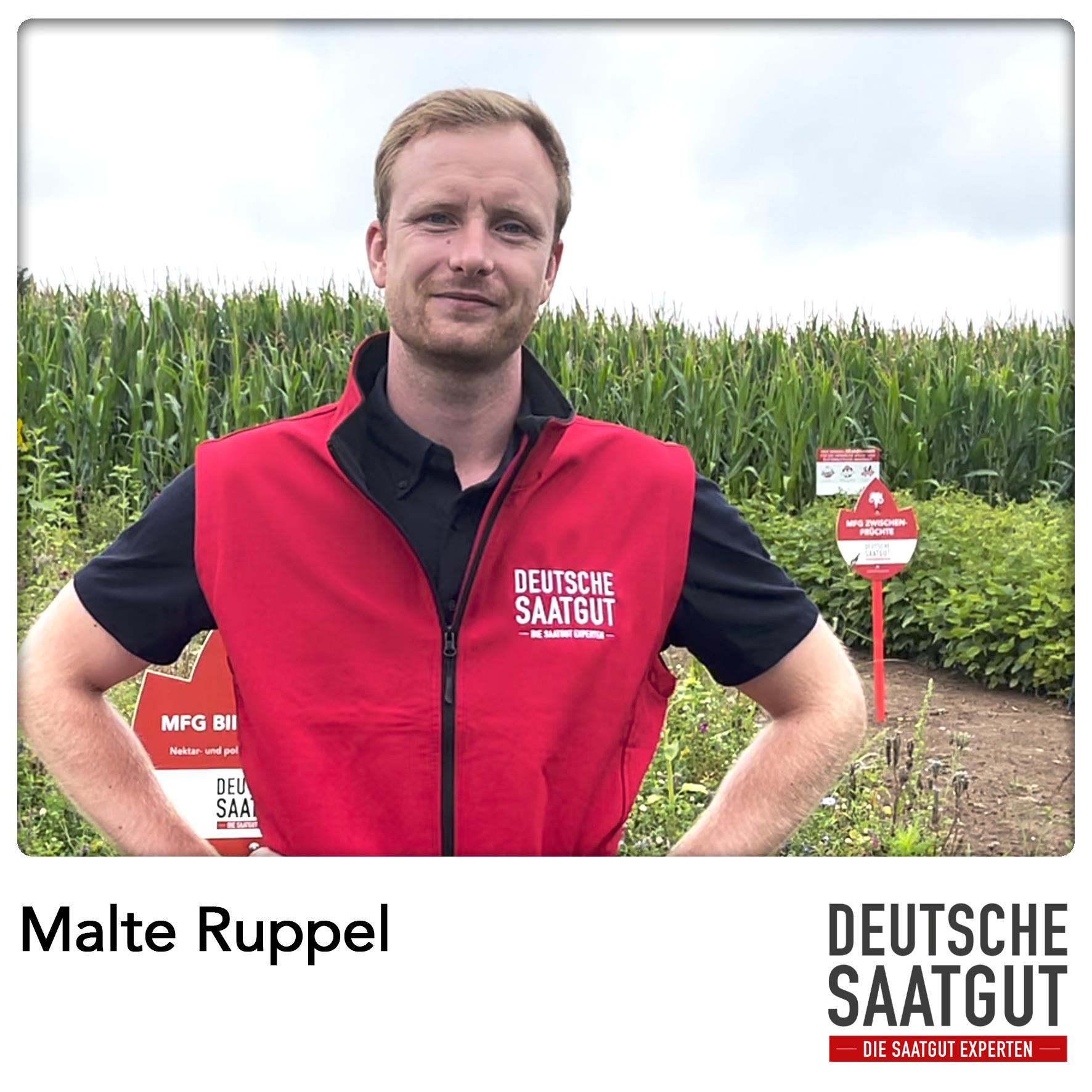 Malte Ruppel beim Mais-Exaktversuch in Eiterfeld – Hessen