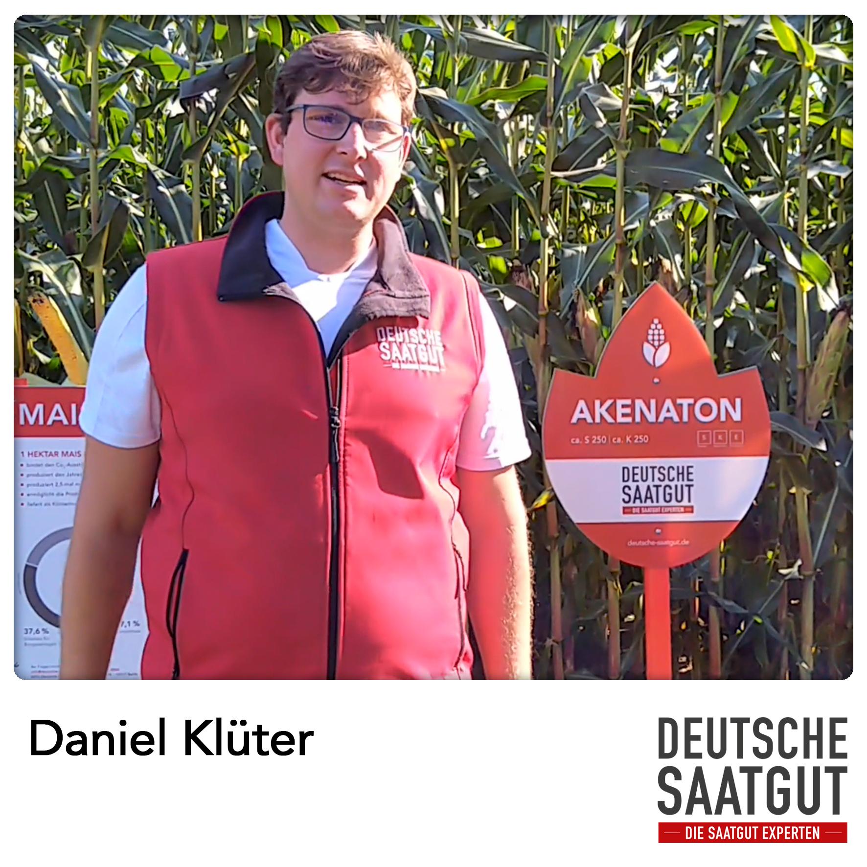 Daniel Klüter beim Mais-Demoversuch am Standort Neustadt am Rübenberge.