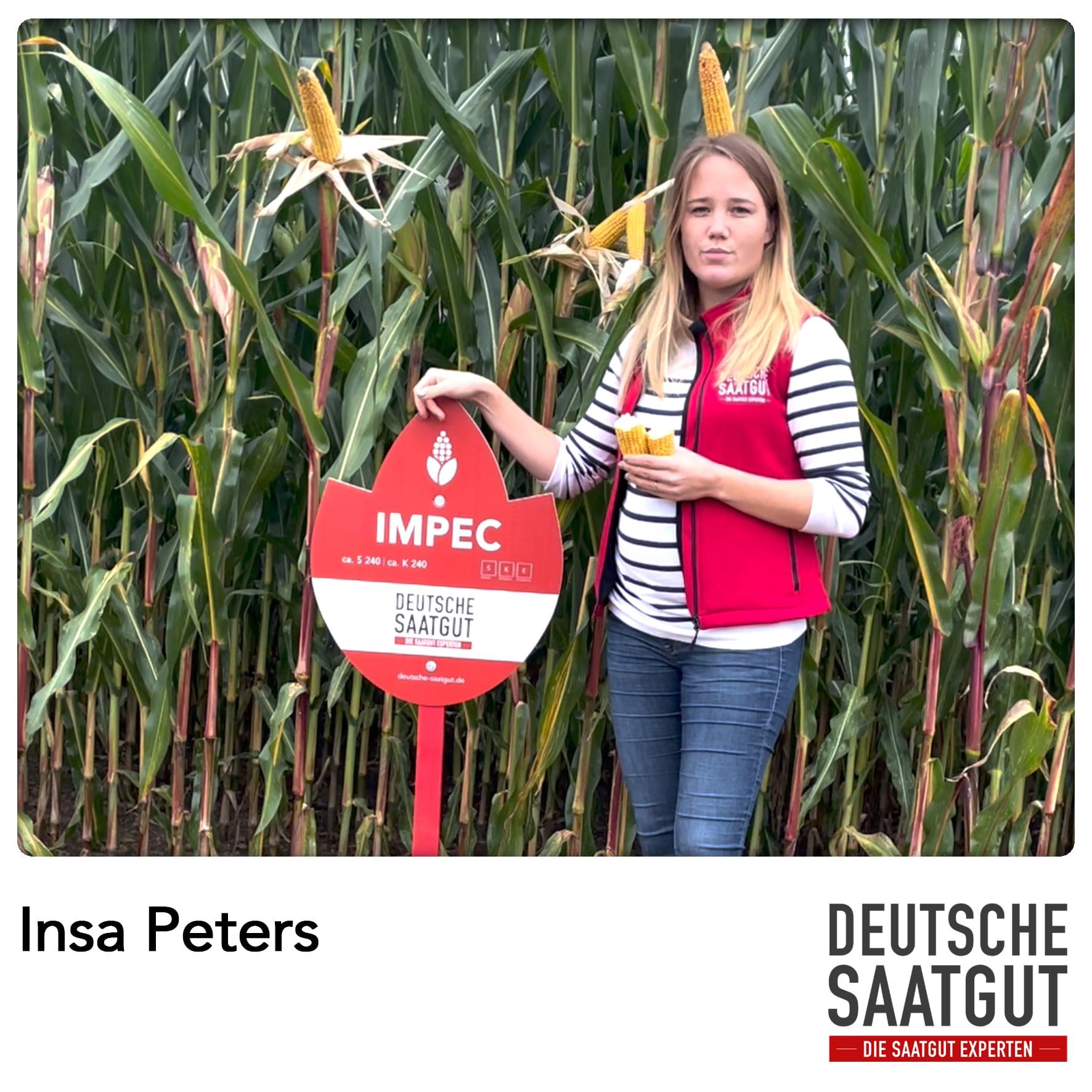 Insa Peters beim Mais-Demoversuch in Petschow.