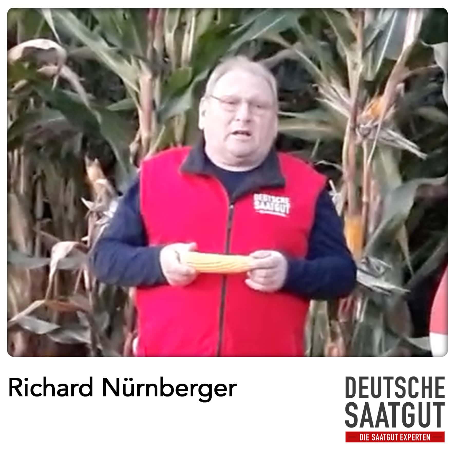 Richard Nürnberger bei der Mais-Sortendemo in Wieseth im LK Ansbach