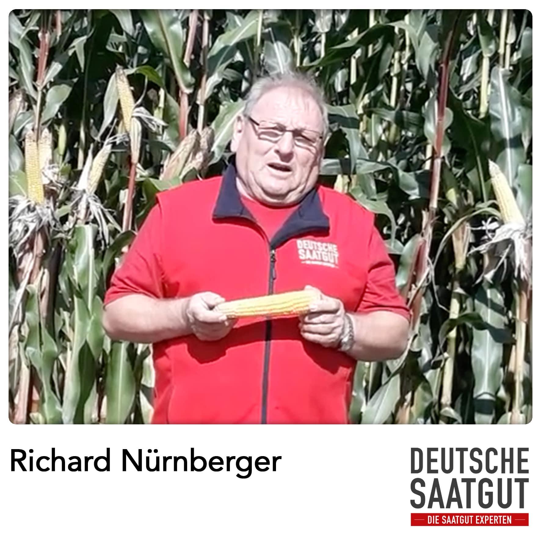 Richard Nürnberger bei der Mais-Sortendemo in Dornhausen im LK Ansbach